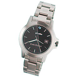View a larger, more detailed picture of the Hamburg Brushed Steel Watch - Men s