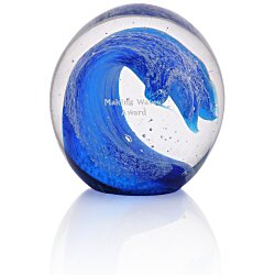 View a larger, more detailed picture of the Wave Art Glass Paperweight
