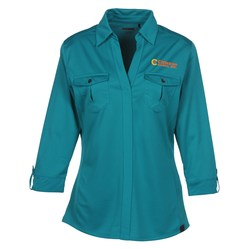 View a larger, more detailed picture of the OGIO Two Pocket Polo - Ladies