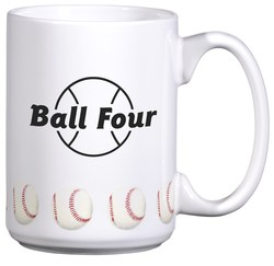 View a larger, more detailed picture of the Sports Ceramic Mug - 15 oz - Baseball