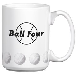 View a larger, more detailed picture of the Sports Ceramic Mug - 15 oz - Golf