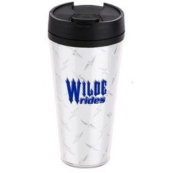 View a larger, more detailed picture of the Diamond Plate Voyager Insulated Travel Tumbler - 16 oz