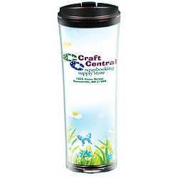 View a larger, more detailed picture of the Full Color Endeavour Insulated Travel Tumbler - 16 oz