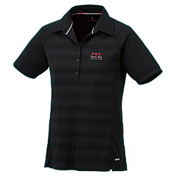 View a larger, more detailed picture of the Shima Stripe Moisture Wicking Polo - Ladies - 24 hr