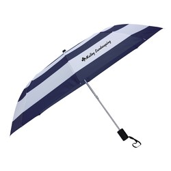 View a larger, more detailed picture of the Nautical Stripe Umbrella - 44 Arc
