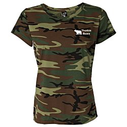 View a larger, more detailed picture of the Code V Camouflage T-Shirt - Ladies