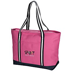 View a larger, more detailed picture of the Large Cotton Canvas Admiral Tote - Embroidered
