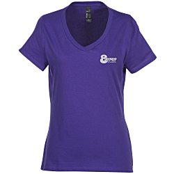 View a larger, more detailed picture of the Hanes Nano-T 4 5 oz V-Neck - Ladies - Color