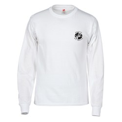 View a larger, more detailed picture of the Hanes 50 50 Comfortblend LS T-Shirt - White