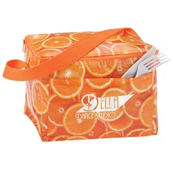 View a larger, more detailed picture of the PhotoGraFX Six Pack Cooler - Oranges - Overstock
