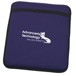 View a larger, more detailed picture of the Neoprene Tablet Sleeve and Stand - Closeout