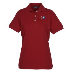 View a larger, more detailed picture of the IZOD Silkwash Stretch Pique Polo - Ladies