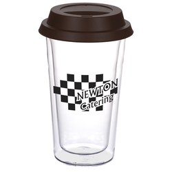 View a larger, more detailed picture of the Double Wall Glass Tumbler - 10 oz - Closeout