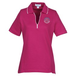 View a larger, more detailed picture of the Vansport Micropima Nailhead Stripe Polo - Ladies