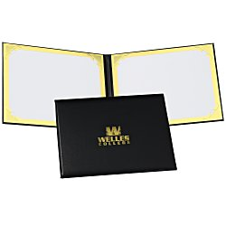 View a larger, more detailed picture of the Double Award Folder - Foil Corners