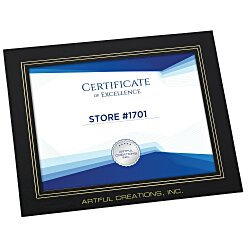 View a larger, more detailed picture of the Wrapped Edge Certificate Frame - 8-1 2 X 11