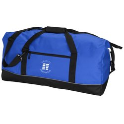 View a larger, more detailed picture of the Roll Top Clip Jumbo Duffel - Embroidered