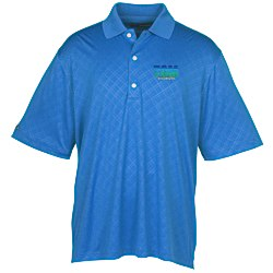 View a larger, more detailed picture of the Greg Norman Play Dry Diamond Embossed Polo