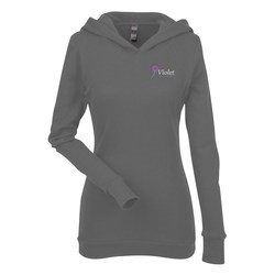 View a larger, more detailed picture of the Next Level Soft Thermal Hoodie - Ladies - Embroidered