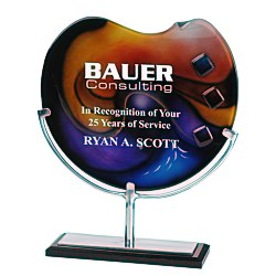 View a larger, more detailed picture of the Palette Art Glass Award