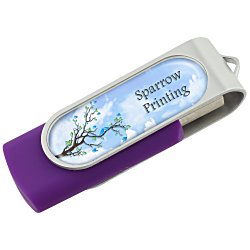 View a larger, more detailed picture of the Swing USB Drive - 1GB - Full Color - 4 Day