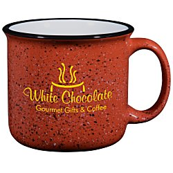 View a larger, more detailed picture of the Campfire Ceramic Mug - Red - 15 oz