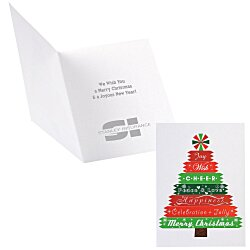 View a larger, more detailed picture of the Designer Tree Christmas Greeting Card