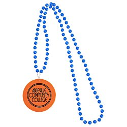 View a larger, more detailed picture of the Mardi Gras Beads w Medallion