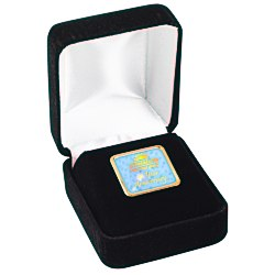 View a larger, more detailed picture of the Square Lapel Pin with Gift Box