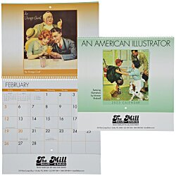 View a larger, more detailed picture of the An American Illustrator Calendar - Spiral - 24 hr