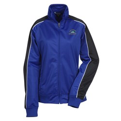 View a larger, more detailed picture of the Piped Colorblock Tricot Track Jacket - Ladies