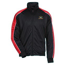 View a larger, more detailed picture of the Piped Colorblock Tricot Track Jacket - Men s