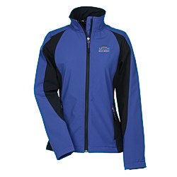 View a larger, more detailed picture of the Sport Colorblock Soft Shell Jacket - Ladies