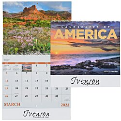 View a larger, more detailed picture of the Landscapes of America Calendar English - Spiral - 24 hr