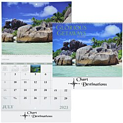 View a larger, more detailed picture of the Glorious Getaways Calendar - Spiral - 24 hr