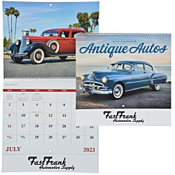 View a larger, more detailed picture of the Antique Autos Calendar - Spiral - 24 hr
