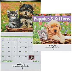 View a larger, more detailed picture of the Puppies & Kittens Calendar - Stapled - 24 hr
