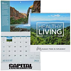 View a larger, more detailed picture of the Healthy Living Calendar - Spiral - 24 hr