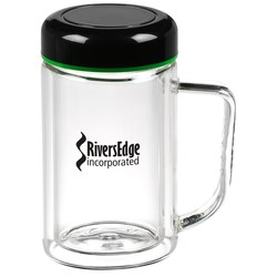 View a larger, more detailed picture of the Double Wall Glass Mug - 10 oz - Closeout