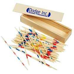 View a larger, more detailed picture of the Pick-Up Sticks in Wood Box