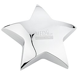 View a larger, more detailed picture of the Silver Star Paperweight