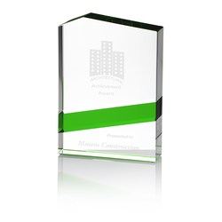 View a larger, more detailed picture of the Green Panel Crystal Award