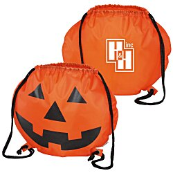 View a larger, more detailed picture of the Reflective Pumpkin Drawstring Sportpack