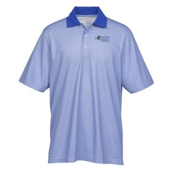 View a larger, more detailed picture of the Launch Snag Protection Striped Performance Polo - Men s