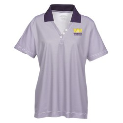 View a larger, more detailed picture of the Launch Snag Protection Striped Performance Polo - Ladies