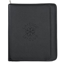 View a larger, more detailed picture of the Manhattan Leather Zippered Portfolio