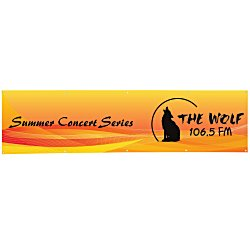 View a larger, more detailed picture of the Value Outdoor Banner - 2 x 8 - 24 hr