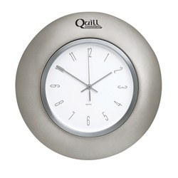 View a larger, more detailed picture of the Horlomur Series Wall Clock - Pewter - 12-1 2 - Closeout