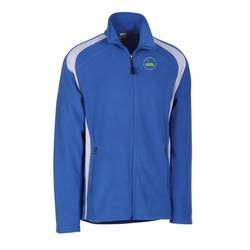 View a larger, more detailed picture of the Ecotech-Fleece100 Recycled Polyester Jacket-Men s-Closeout