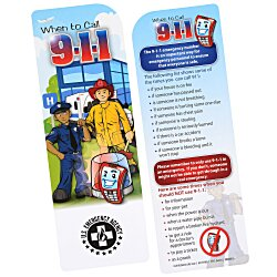 View a larger, more detailed picture of the Just the Facts Bookmark - 911